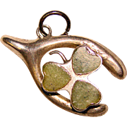Lucky Sterling CLOVER & WISHBONE Vintage Charm