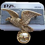 1928 Jewelry Company American Eagle Brooch - on Original Card