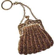 Small Antique Beaded PURSE - For Doll or Finger Purse