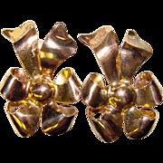 Fabulous Vintage STERLING MONET Bow Shaped Clip Earrings