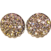 Awesome Signed CONVERTIBLE Day to Evening Rhinestone Clip Earrings