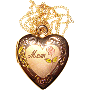 Gorgeous GOLD FILLED Heart Locket For Mother