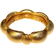 Fabulous Vintage NAPIER Signed MESH Bangle Bracelet