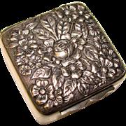 Gorgeous MALTBY STEVENS & CURTISS Co Repousse' Design Antique Box