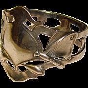 Antique Art Nouveau BUTTERFLY Napkin Ring