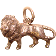 Awesome STERLING LION Vintage Charm
