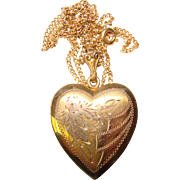 Gorgeous HEART Gold Filled Sterling Vintage Locket