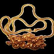 Gorgeous ALVA Signed Menuki DRAGON Vintage Necklace
