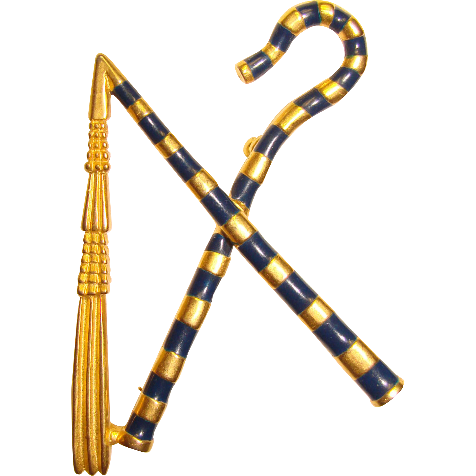 Awesome MMA Scepter Crook & Flail KING TUT Vintage Brooch ...