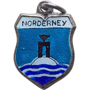 835 Silver & Enamel Norderney Vintage Charm - Souvenir of Germany