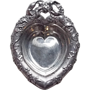 Sterling Reed & Barton Heart Vintage Nut Candy or Pin Dish or Cup