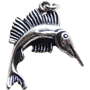 Sterling Swordfish Sailfish Marlin Fish Vintage Charm
