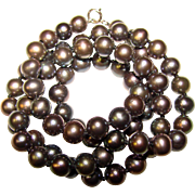 Gorgeous GRAY Colored Fresh Water Pearl Necklace