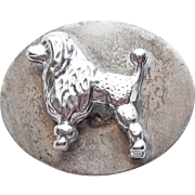 Super Cute Sterling Poodle Dog Vintage Brooch