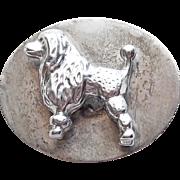 Super Cute Sterling Poodle Dog Vintage Brooch