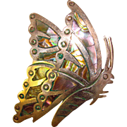Mexican Sterling Vintage BUTTERFLY Pin Brooch