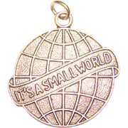 Awesome It's A Small World STERLING Job's Daughters Charm