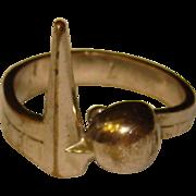 Awesome 1939 New York World's Fair Art Deco Trylon Perisphere Ring