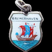 800 Silver & Enamel Bremerhaven Vintage Estate Charm - Souvenir of Germany