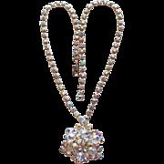 Gorgeous AURORA RHINESTONE Vintage Necklace