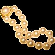 Fabulous Signed Majorica Simulated Pearl Estate Bracelet