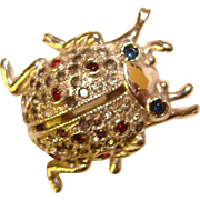 Fabulous CORO Signed SCENT BUG Vintage Figural Brooch