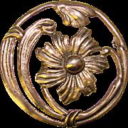 Fabulous CORO STERLING Vintage Flower Design Brooch