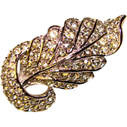 Fabulous PENNINO Signed Sparkling Rhinestone Vintage Lapel Brooch