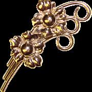 Fabulous STERLING Flower Spray Design Signed GKco Vintage Brooch