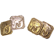 Awesome ART DECO Elephant Patterned Estate Cufflinks