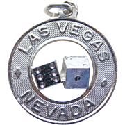 Awesome LAS VEGAS Signed Danecraft Sterling Vintage Charm