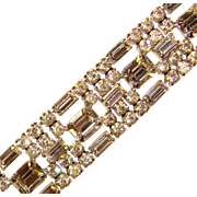 Fabulous LA REL Sparkling Clear Rhinestone Vintage Bracelet