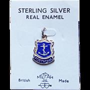 Vintage Porthcawl Sterling & Enamel Estate Charm - Souvenir of UK on Original Card