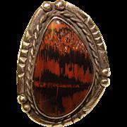 Fabulous STERLING & JASPER Vintage Estate Ring