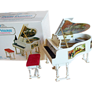 Fabulous Doll House Royal Grand Piano - 1960s Petite Princess Fantasy Furniture Ideal Original Box
