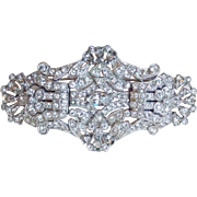 Gorgeous Art Deco Sparkling Rhinestone Duette Clip Brooch