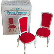 Fabulous Doll House Hostess Dining Chairs - 1960s Petite Princess Fantasy Furniture Ideal Original Box Set 1