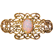 Fabulous OPAL GLASS Vintage Brooch