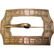 Gorgeous Victorian Patterned Design Sash Pin Brooch
