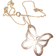 Tiffany & Co. STERLING Butterfly Pendant Necklace