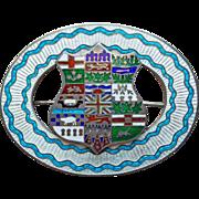 Fabulous Sterling & Enamel Antique Sash Pin Brooch - Canada