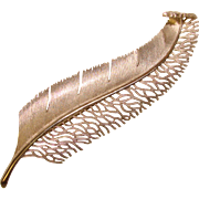 Fabulous HUGE Feather Design Vintage Statement Brooch