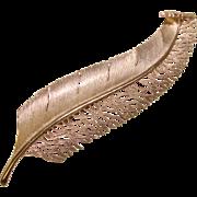 Fabulous HUGE Feather Design Vintage Statement Brooch