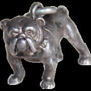 Sterling Bulldog Dog Vintage Estate Charm