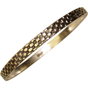 Gorgeous STERLING SILVER Vintage Patterned Bangle Bracelet