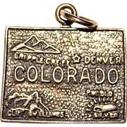Sterling COLORADO Vintage State Charm