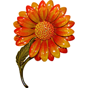 Awesome 1960s Autumn Flower Power Vintage Brooch