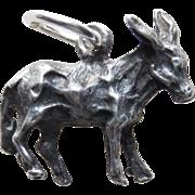 Sterling Donkey or Mule Vintage Estate Charm