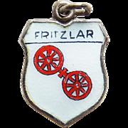 800 Silver & Enamel Fritzlar Vintage Estate Charm - Souvenir of Germany