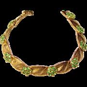 Gorgeous TRIFARI Green Rhinestone Vintage Bracelet